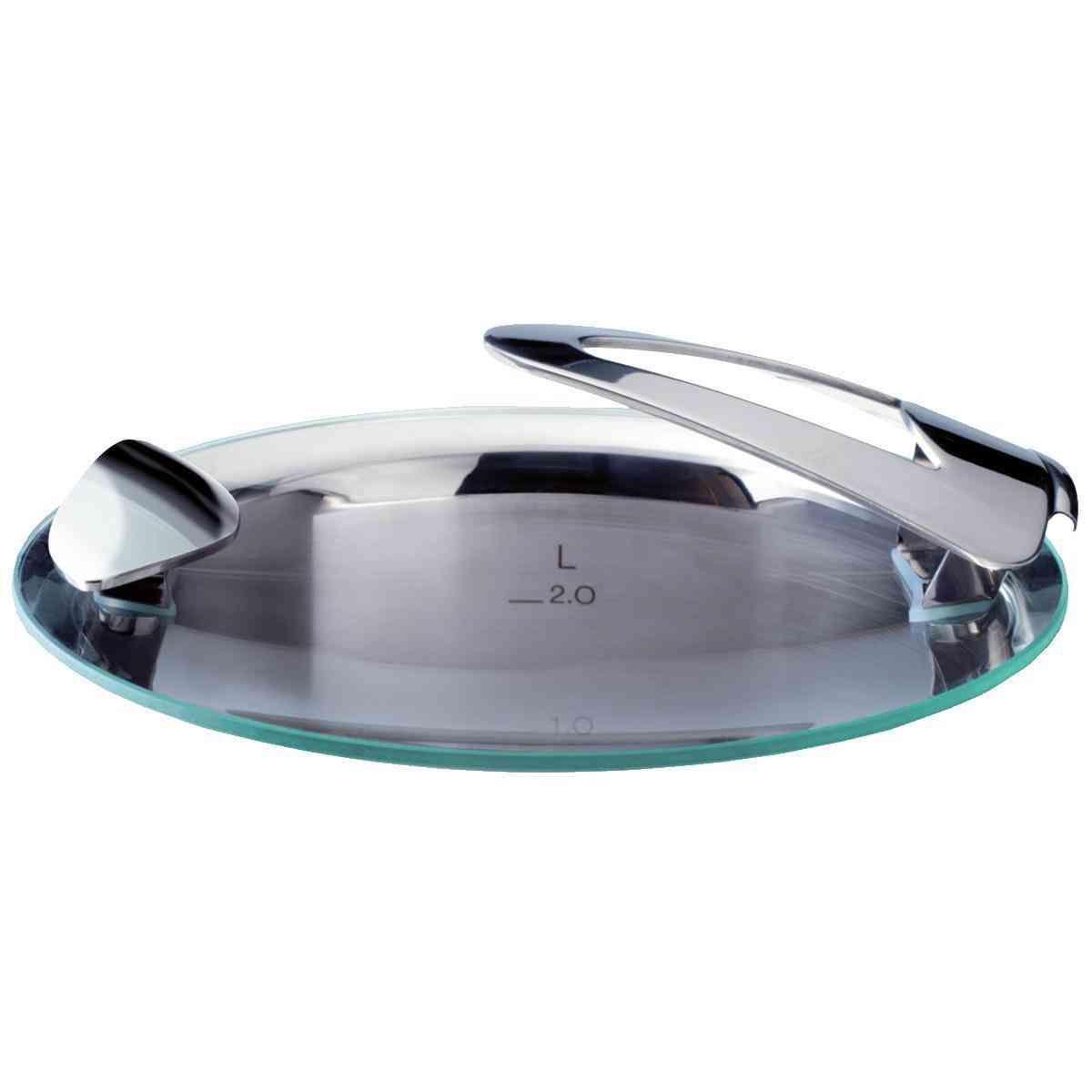 solea® Glasdeckel für Topf mit 16 cm Innendurchmesser