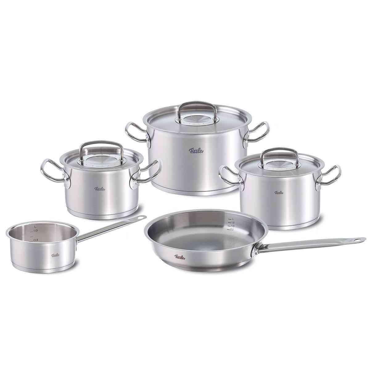 original-profi collection Topf-Set 5-tlg. mit Pfanne und Stielkasserolle