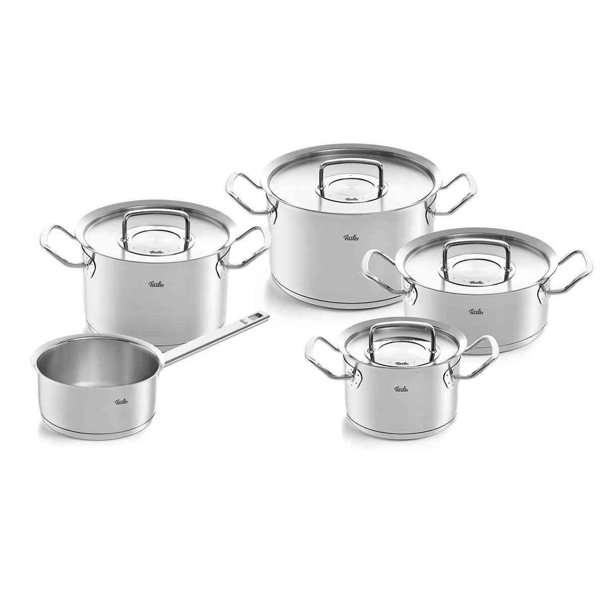 original-profi collection – 5-teiliges Set aus Kochtöpfen,  Bratentopf und Stielkasserolle