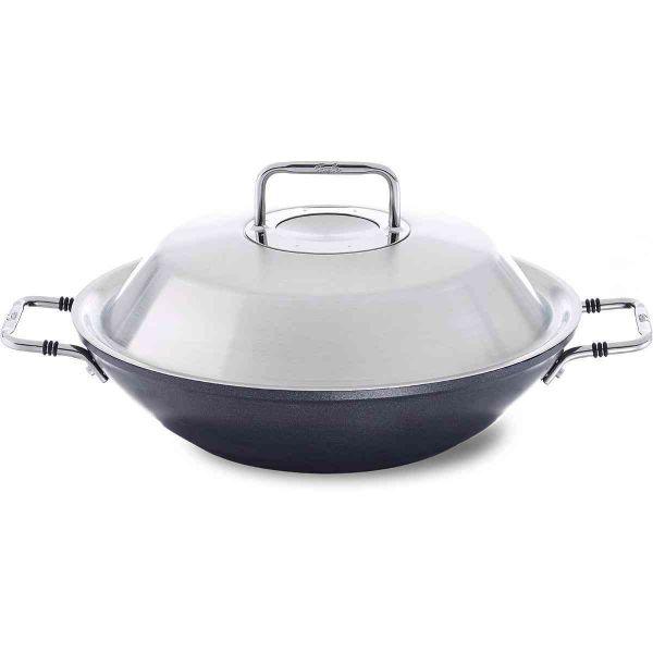 adamant wok with metal lid 31 cm