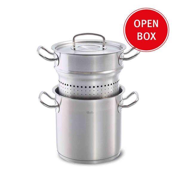 Open Box - original-profi collection Multi Purpose Pasta Pot and Steamer Set 6.3qt