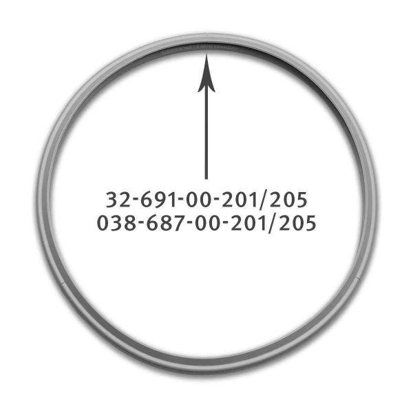 rubber gasket 26 cm for pressure cooker 038-687-00-205/0