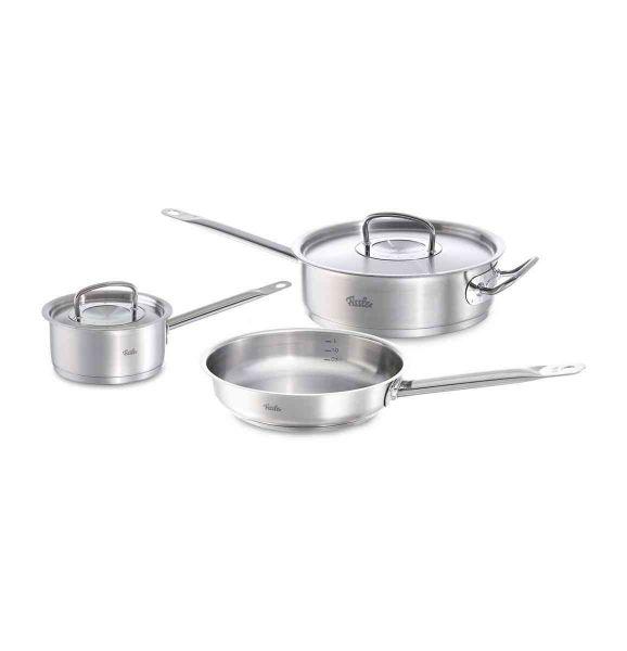 original-profi collection® 5-Piece Stainless Steel Pans Set