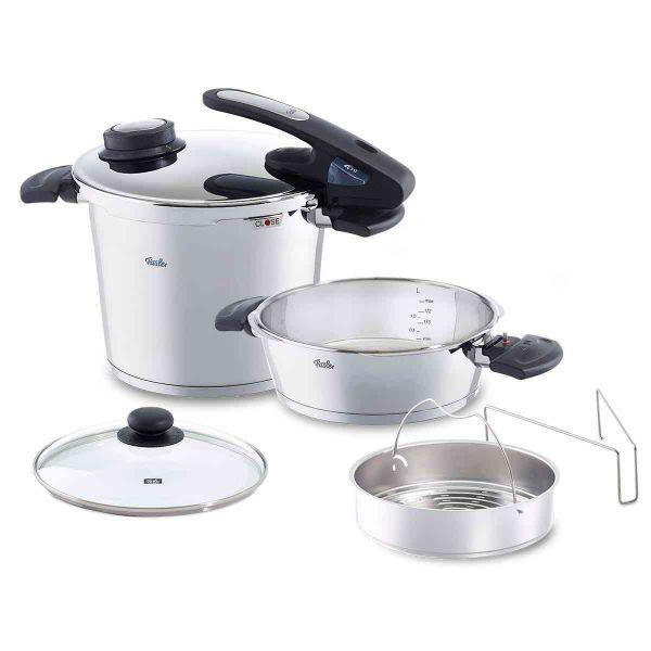 Vitavit® Edition Design 6.3Qt Pressure Cooker and 2.6Qt Pressure Skillet Set