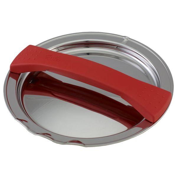 magic line Metalldeckel rot für Topf mit 16 cm Innendurchmesser