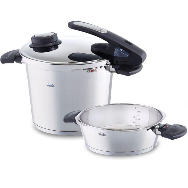 vitavit edition design pressure cooker 2-piece set with insert 22 cm / 6,0 + 2,5 ltr.