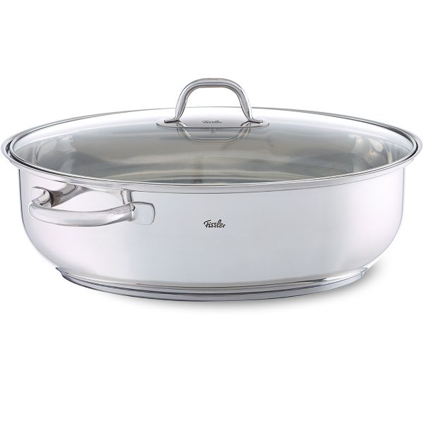 stainless steel roaster oval induction 38 cm