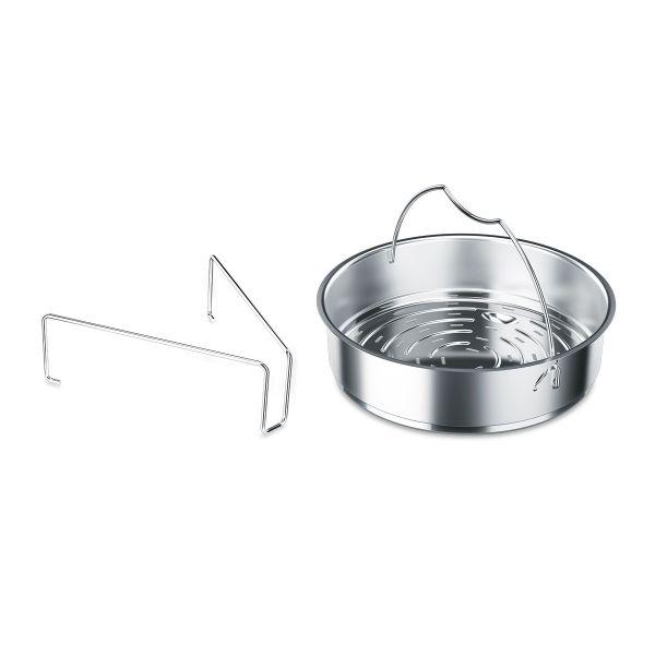 Schnellkochtopf-Zubehör Einsatz gelocht (inkl. Dreibein) 18 cm